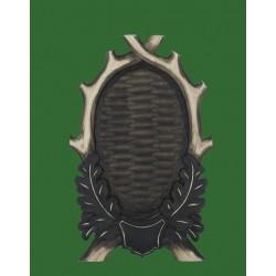 Prelov štítek srnec pro celou lebku  - 17x28cm
