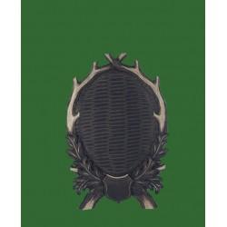 Prelov štítek jelen pro seřízlou lebku - 28x42cm