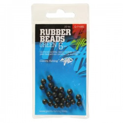 Gumové kuličky Rubber Beads Transparent Green