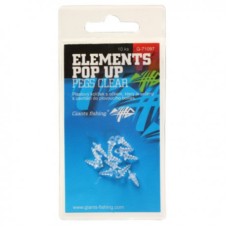 Držák nástrahy Elements Pop-Up Pegs Clear